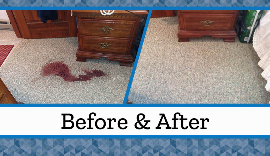 how to clean the carpet after wine