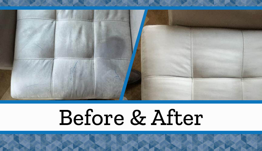 White Upholstery Before After Hoffman S Cleaning