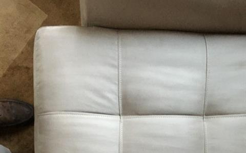 Light colored upholstery - after cleaning