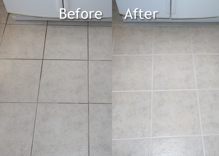 Tile Grout Cleaning Before After Hoffmans Cleaning